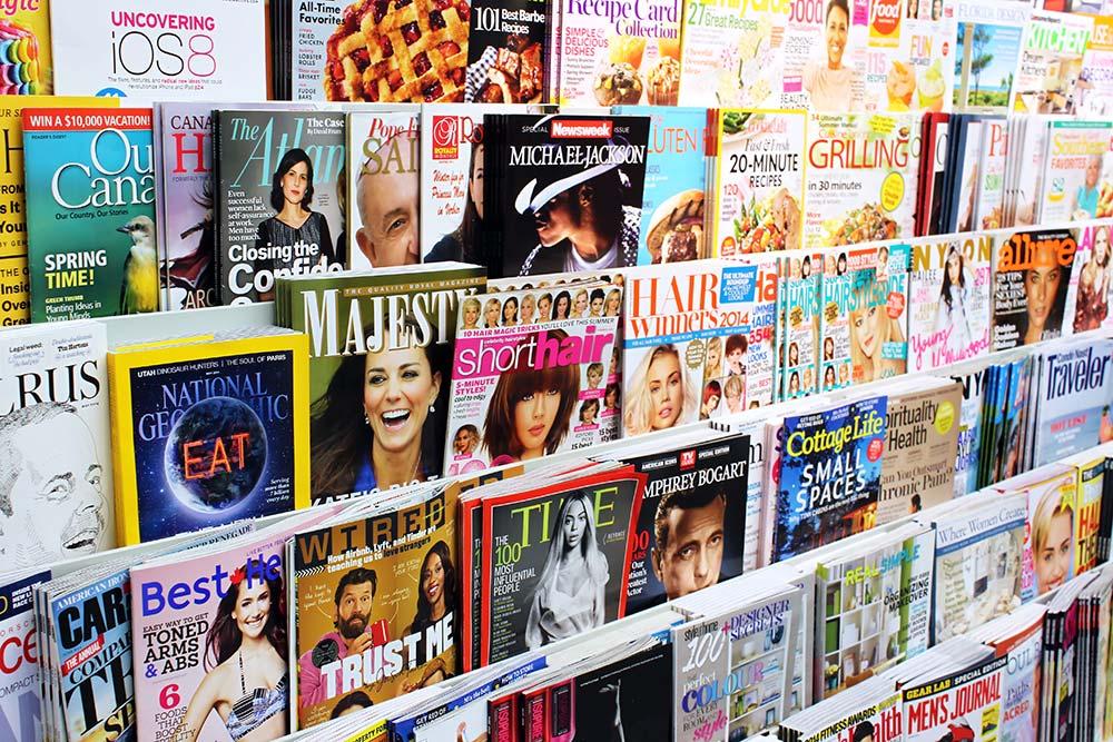 Example of magazines - Publishing industry